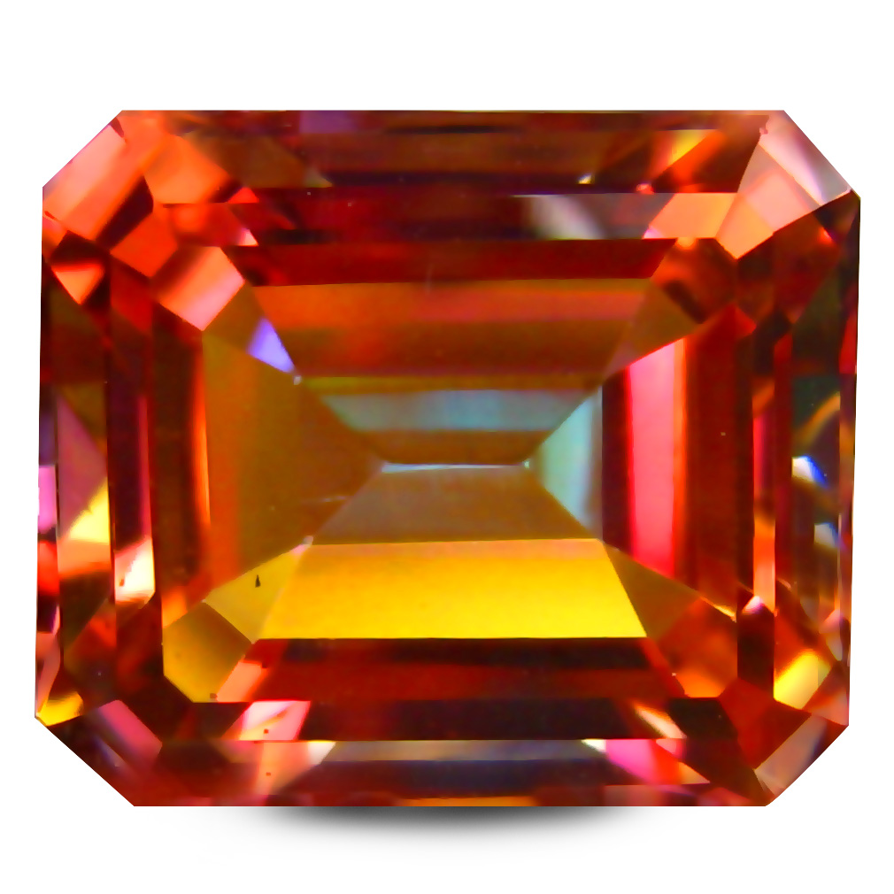 8.04 ct AAA+ Incredible Octagon Shape (12 x 10 mm) Multi Color Twilight Topaz Natural Gemstone