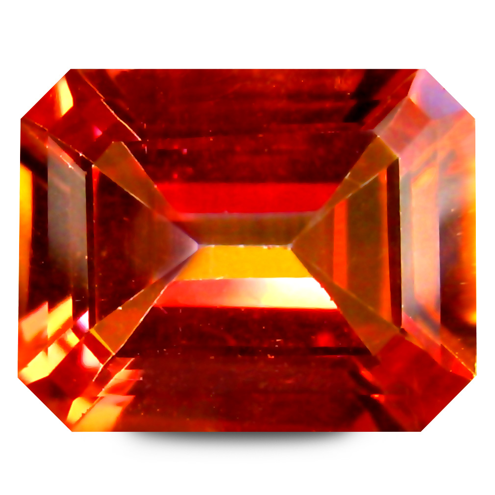 3.84 ct AAA+ Five-star Octagon Shape (10 x 8 mm) Multi Color Twilight Topaz Natural Gemstone