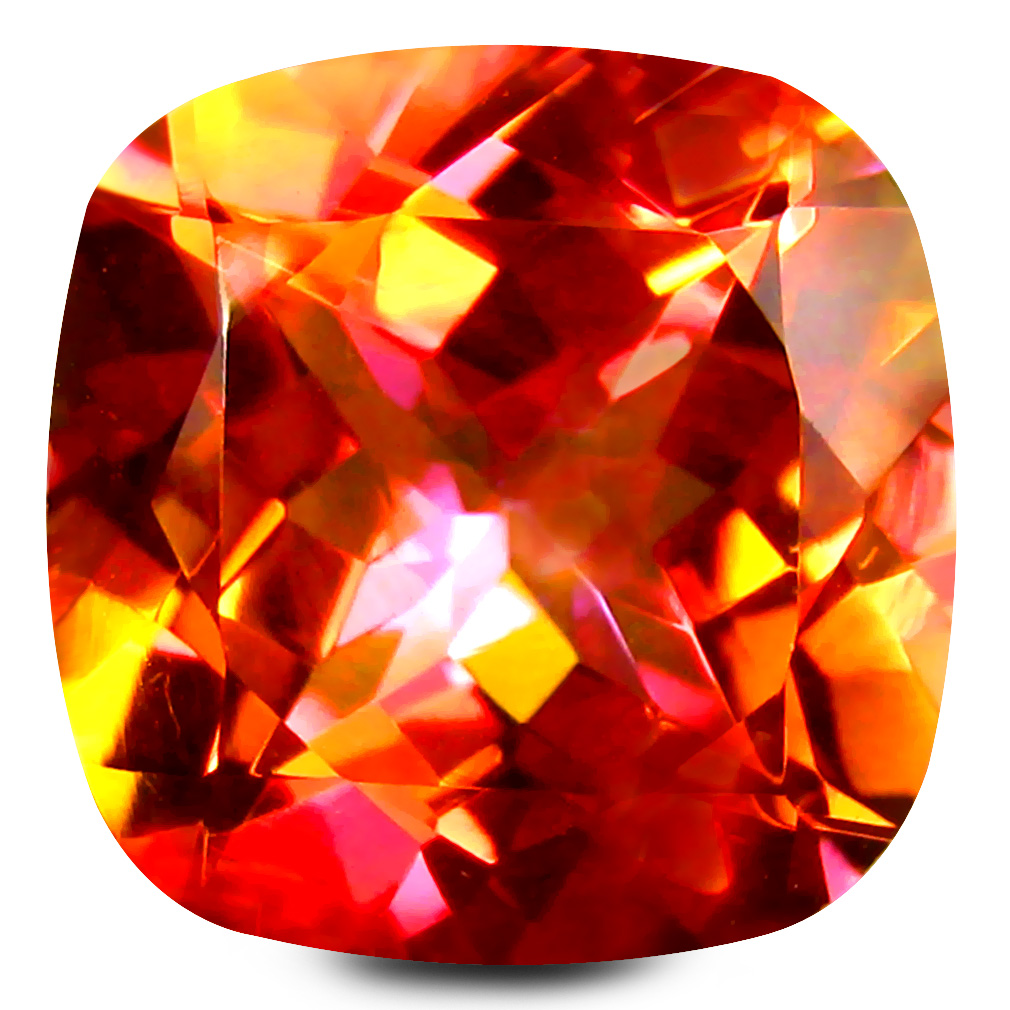 6.72 ct AAA+ Beautiful Cushion Shape (11 x 11 mm) Multi Color Twilight Topaz Natural Gemstone