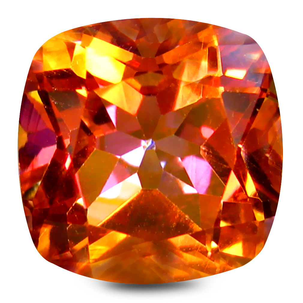 5.15 ct AAA+ Eye-popping Cushion Shape (10 x 10 mm) Multi Color Twilight Topaz Natural Gemstone
