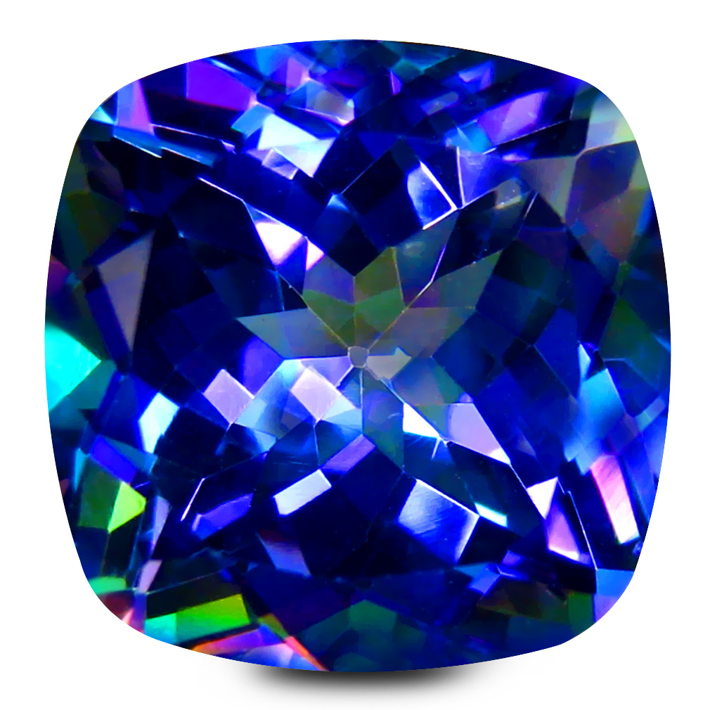 11.65 ct AAA+ Mind-Boggling Cushion Shape (13 x 13 mm) Violet Sheer Luck Topaz Natural Gemstone