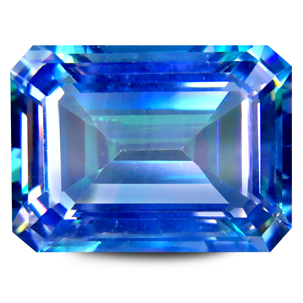 13.80 ct AAA+ Spectacular Octagon Shape (16 x 12 mm) Blue Cassiopeia Topaz Natural Gemstone