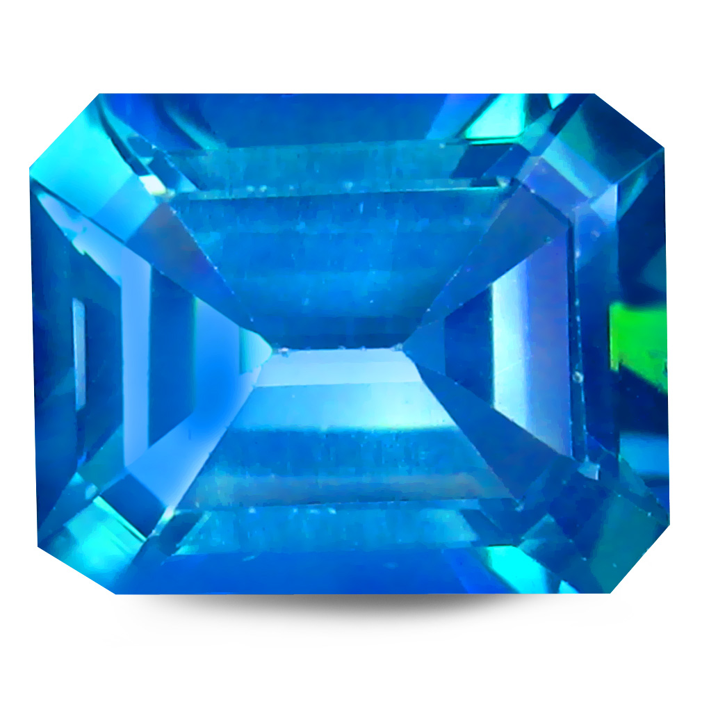 4.01 ct AAA+ Pretty Octagon Shape (10 x 8 mm) Blue Cassiopeia Topaz Natural Gemstone