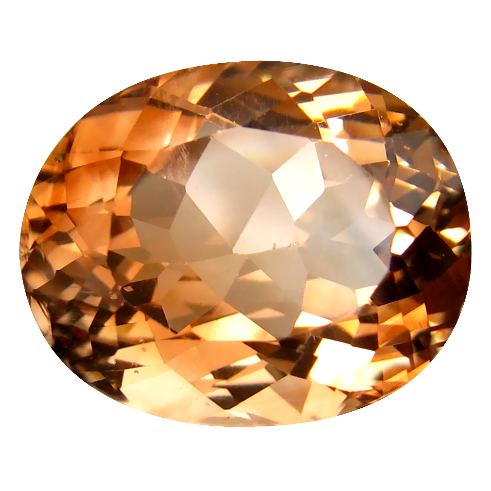 13.18 ct AAA Stunning Oval Shape (16 x 13 mm) Champagne Champion Topaz Natural Gemstone