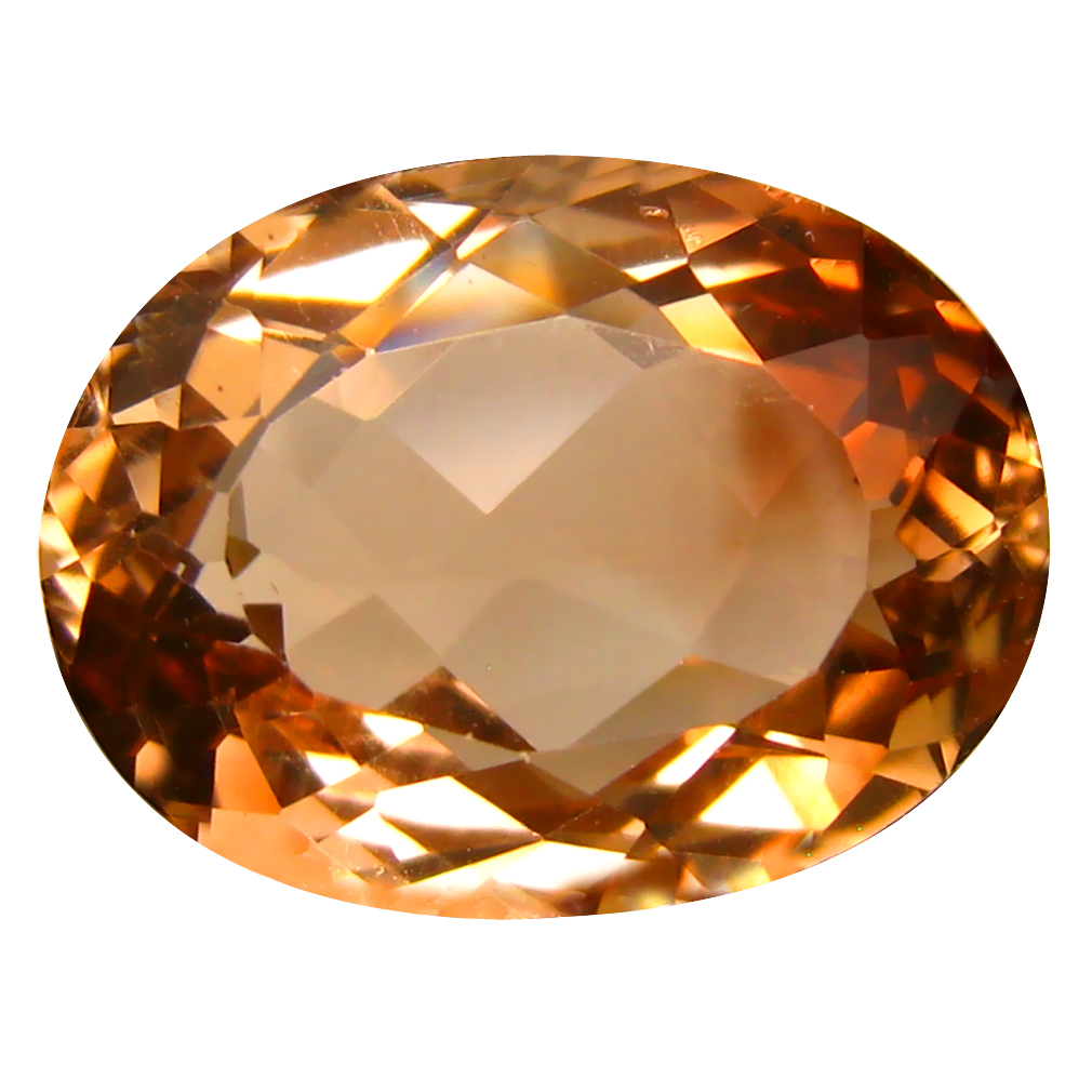 15.10 ct AAA Incredible Oval Shape (17 x 13 mm) Champagne Champion Topaz Natural Gemstone
