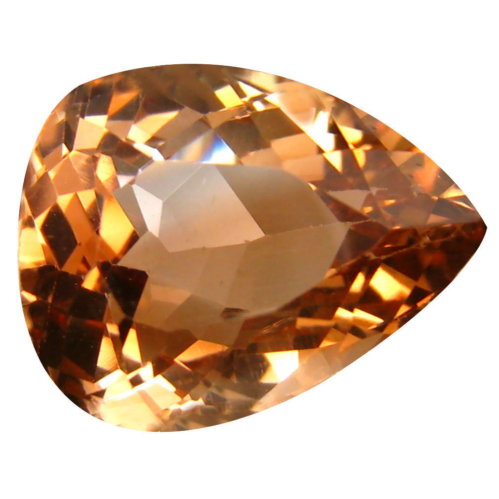 13.55 ct AAA Good-looking Pear Shape (16 x 13 mm) Champagne Champion Topaz Natural Gemstone