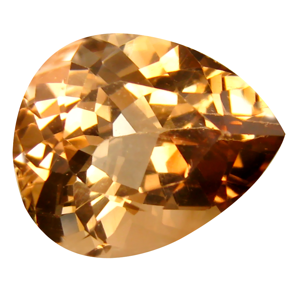 11.72 ct AAA Magnificent fire Pear Shape (16 x 13 mm) Champagne Champion Topaz Natural Gemstone