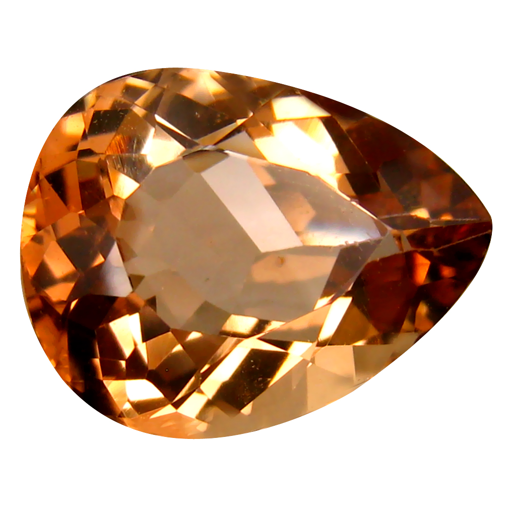 12.92 ct AAA Attractive Pear Shape (17 x 13 mm) Champagne Champion Topaz Natural Gemstone