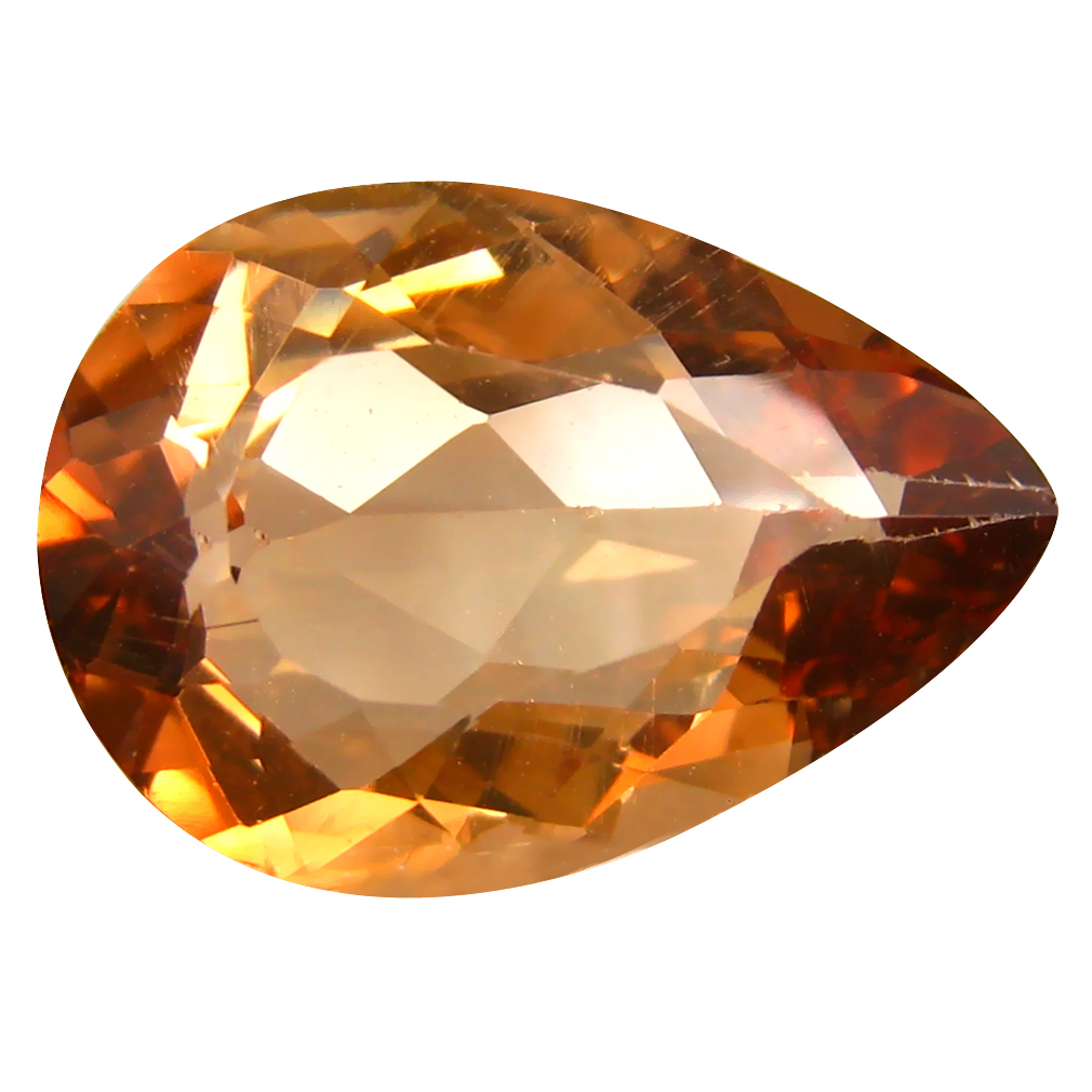 12.50 ct AAA Sparkling Pear Shape (19 x 13 mm) Champagne Champion Topaz Natural Gemstone