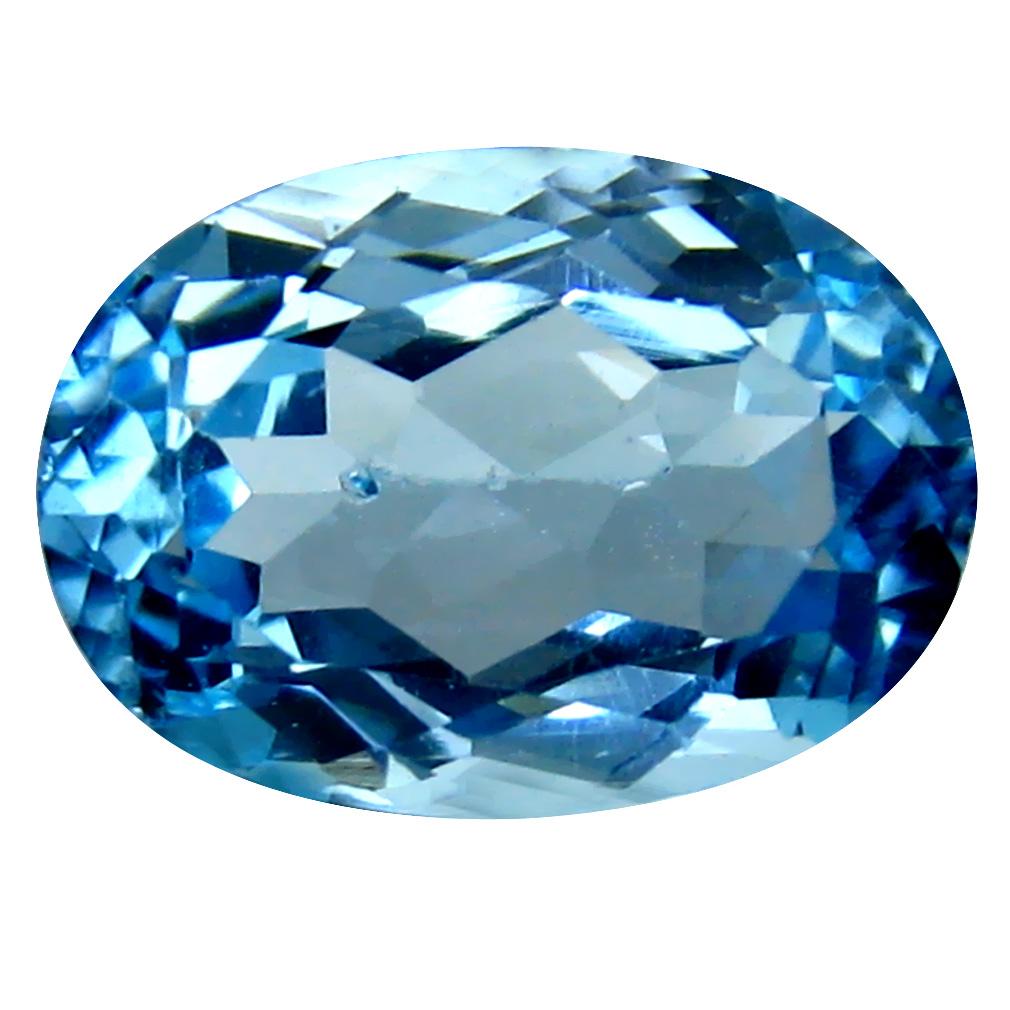 8.25 ct Great looking Oval Cut (14 x 10 mm) Brazil Blue Topaz Natural Gemstone