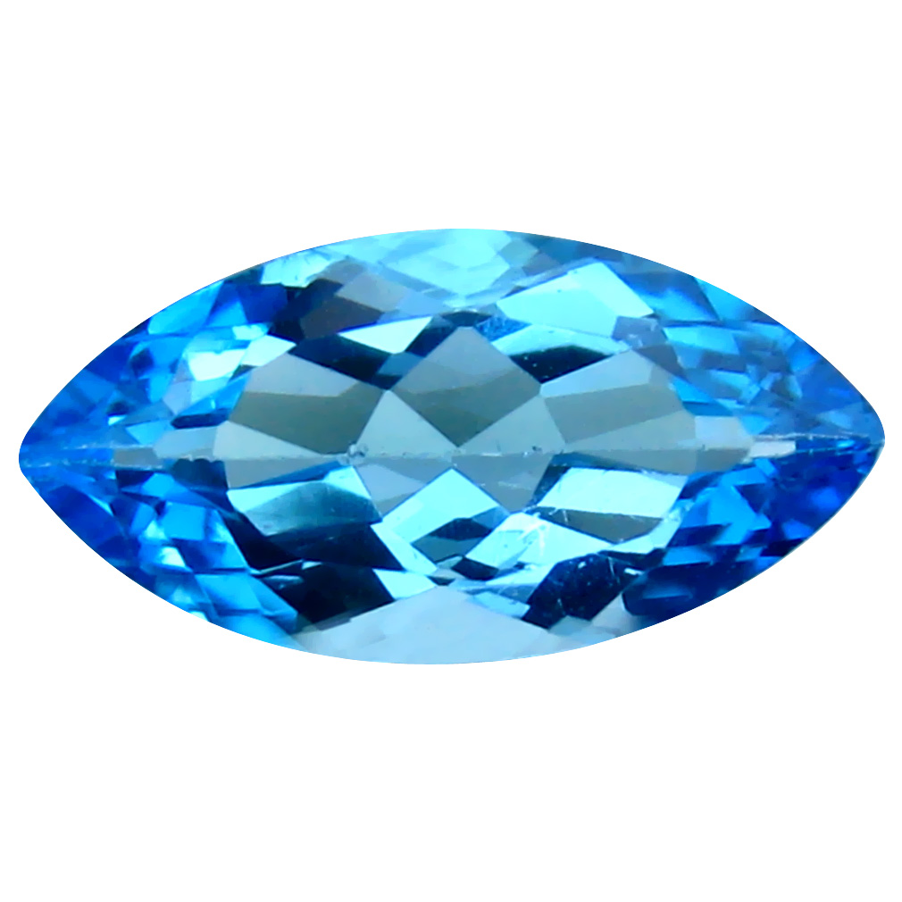 4.29 ct Attractive Marquise Cut (16 x 8 mm) Brazil Blue Topaz Natural Gemstone