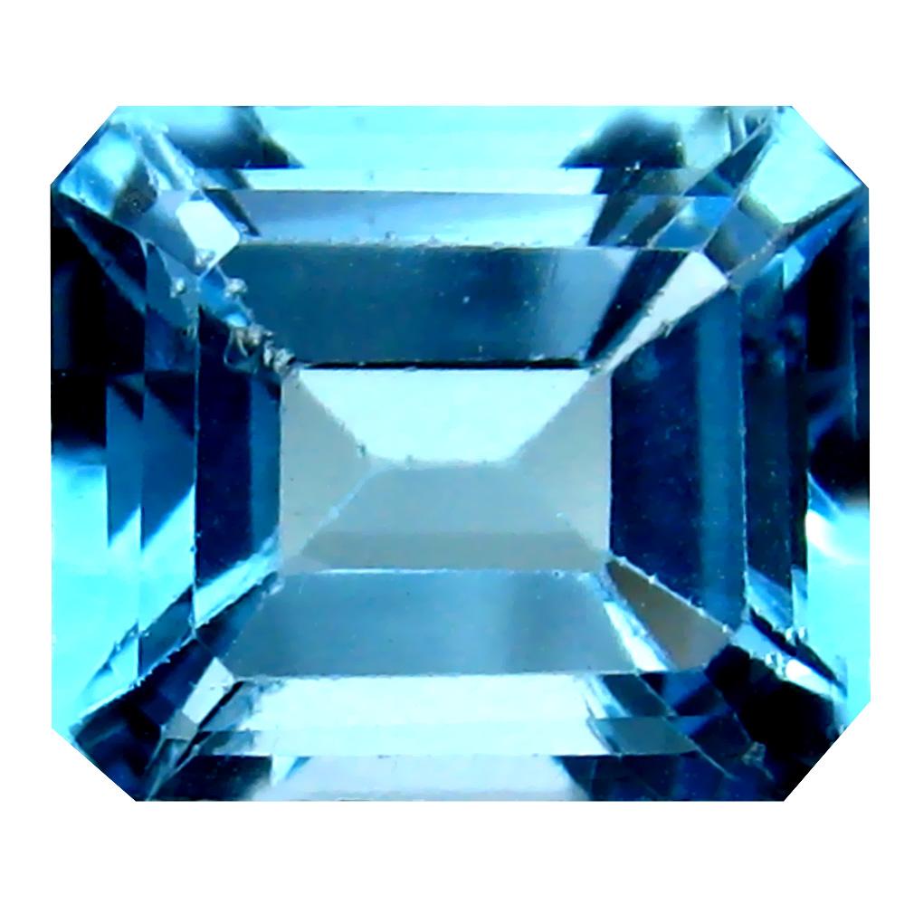 7.17 ct Eye-opening Octagon Cut (12 x 10 mm) Brazil Blue Topaz Natural Gemstone