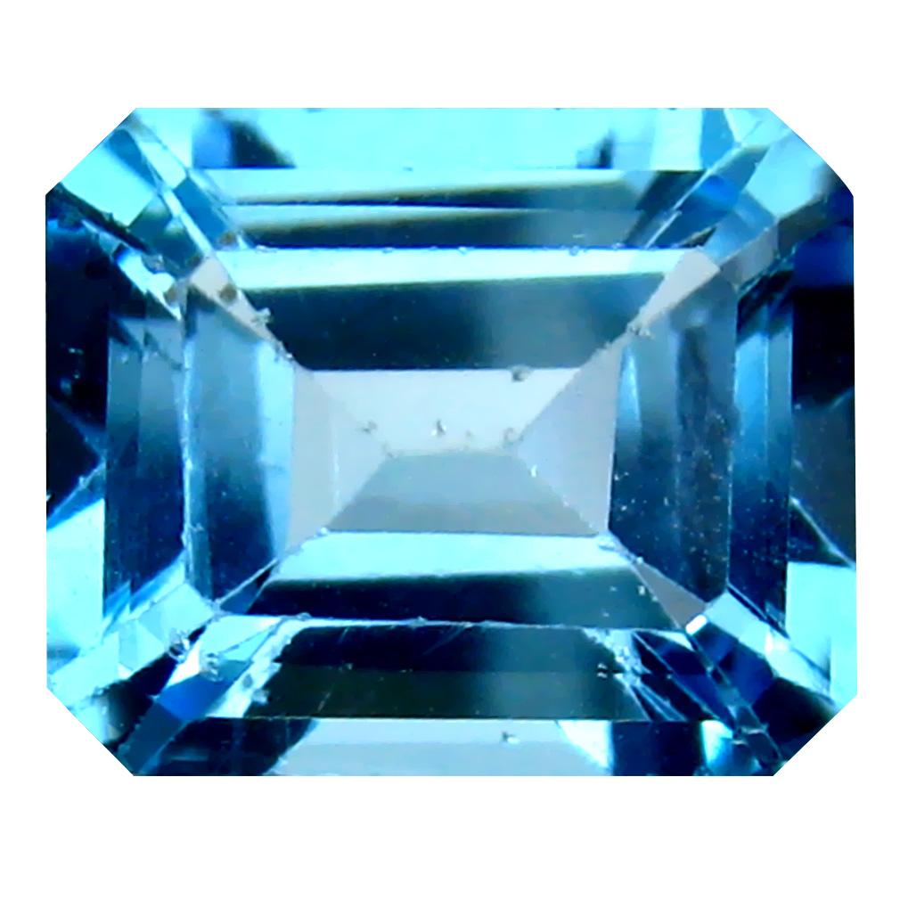7.07 ct Astonishing Octagon Cut (12 x 10 mm) Brazil Blue Topaz Natural Gemstone