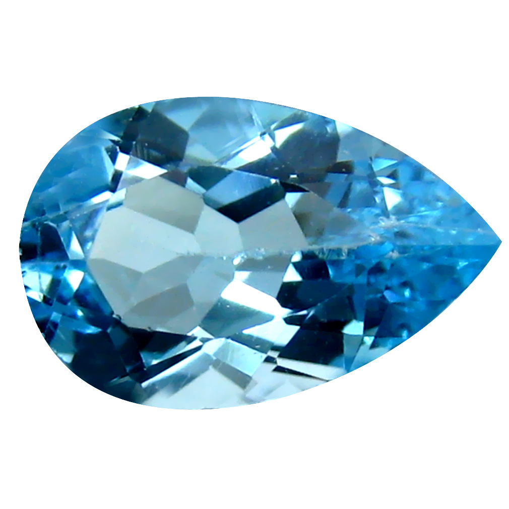 5.11 ct Incredible Pear Cut (14 x 9 mm) Brazil Blue Topaz Natural Gemstone