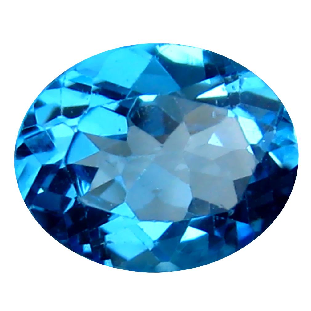 3.11 ct Gorgeous Oval Cut (10 x 8 mm) Brazil Blue Topaz Natural Gemstone
