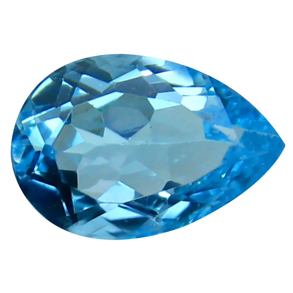 3.70 ct Eye-catching Pear Cut (12 x 8 mm) Brazil Blue Topaz Natural Gemstone
