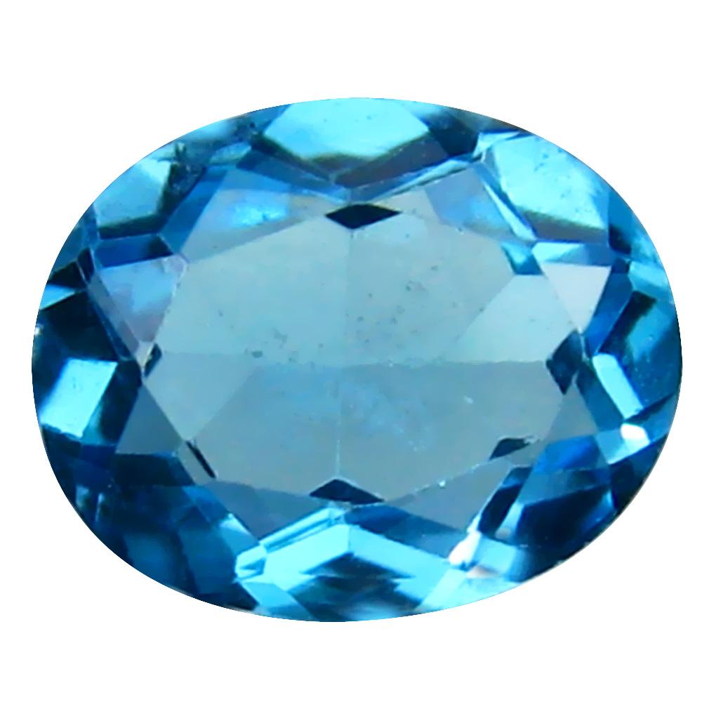 3.01 ct World class Oval Cut (10 x 8 mm) Brazil Blue Topaz Natural Gemstone