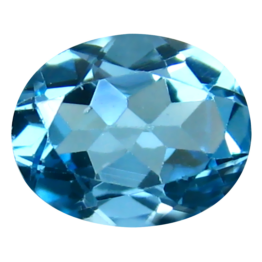 3.02 ct Terrific Oval Cut (10 x 8 mm) Brazil Blue Topaz Natural Gemstone
