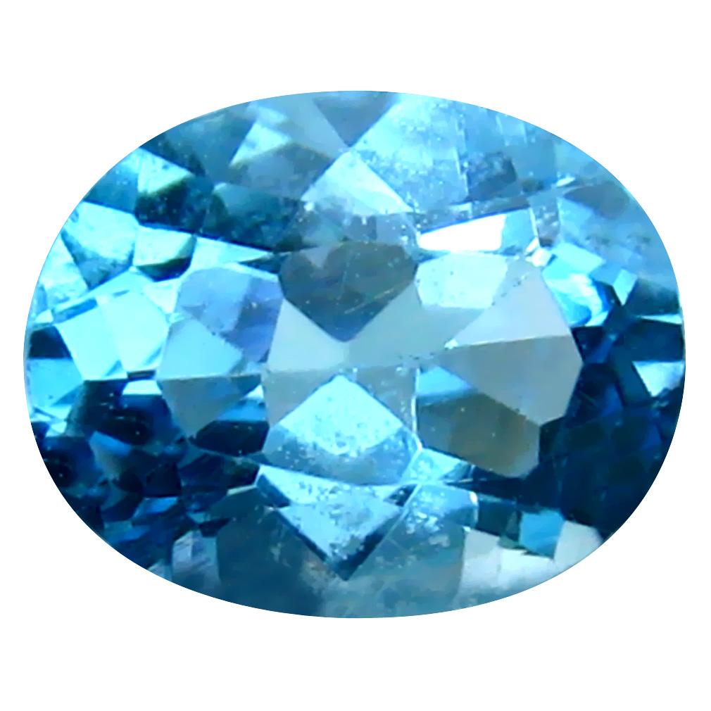 3.28 ct Very good Oval Cut (10 x 8 mm) Brazil Blue Topaz Natural Gemstone