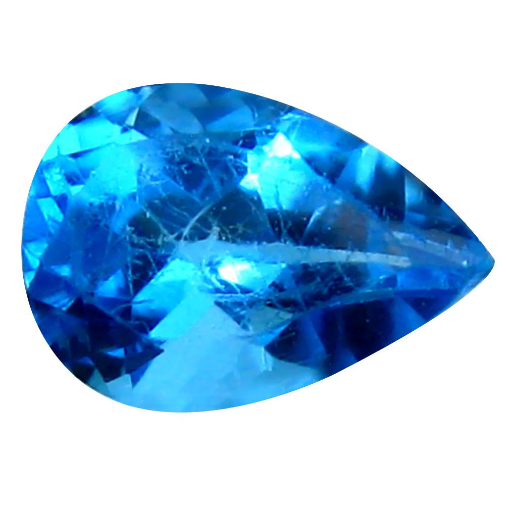 2.48 ct Lovely Pear Cut (10 x 7 mm) Brazil Blue Topaz Natural Gemstone