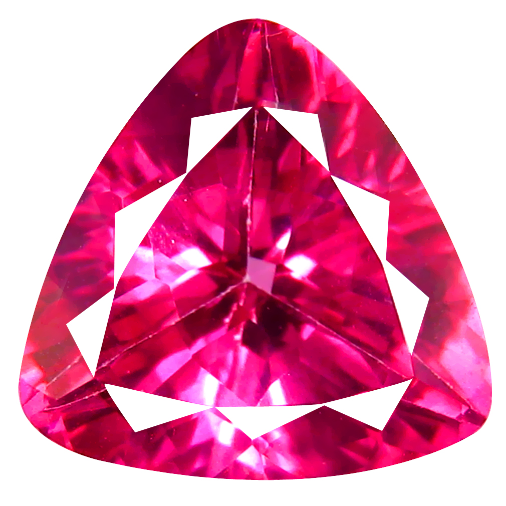 3.85 ct AAA Fair Triangle Shape (10 x 10 mm) Natural Pink Topaz Loose Stone