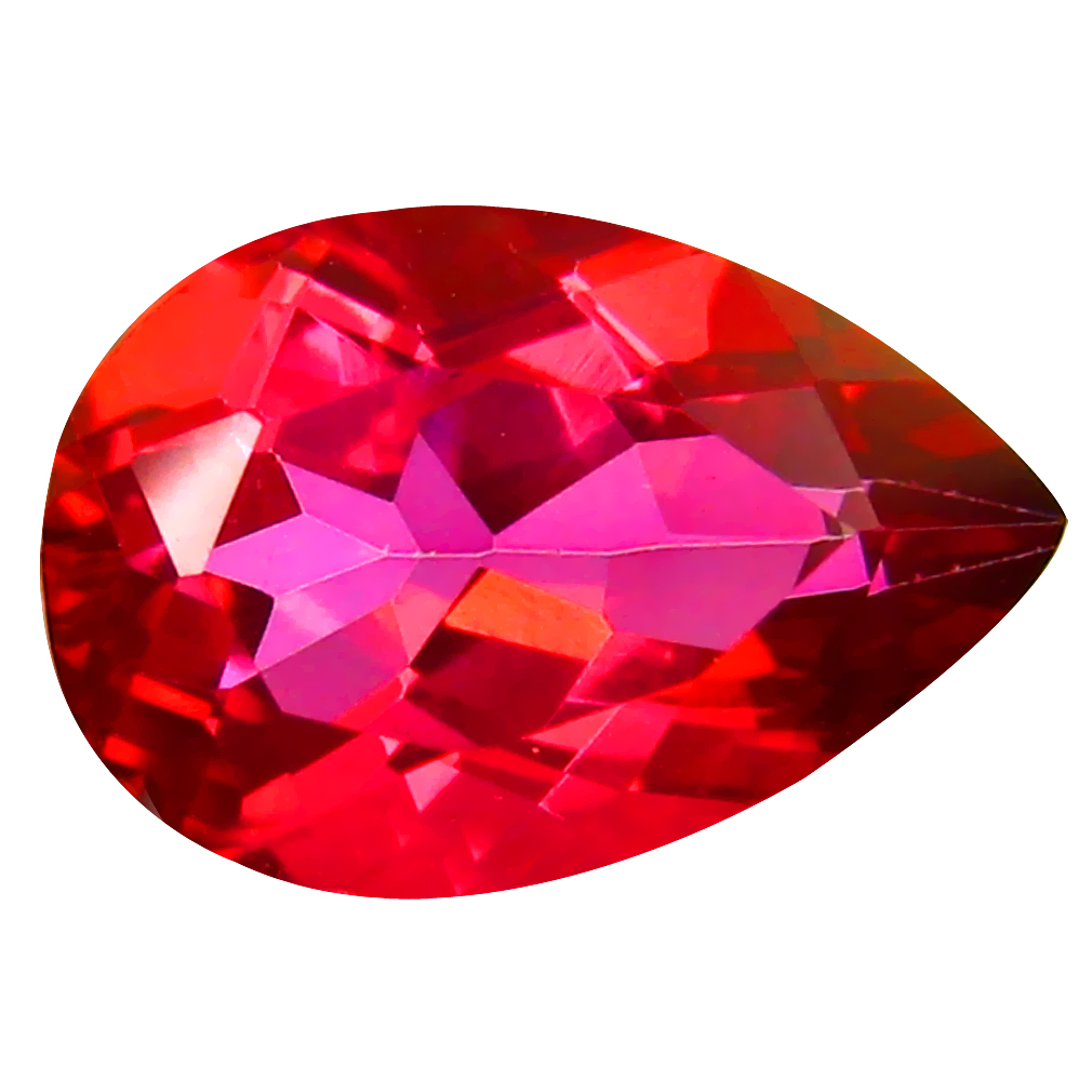 3.58 ct AAA Mesmerizing Pear Shape (12 x 8 mm) Pink Flamingo Pink Topaz Natural Gemstone