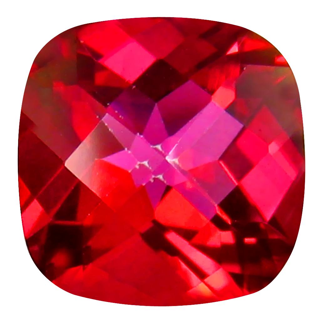3.68 ct AAA Fantastic Cushion Shape (9 x 9 mm) Pink Flamingo Pink Topaz Natural Gemstone