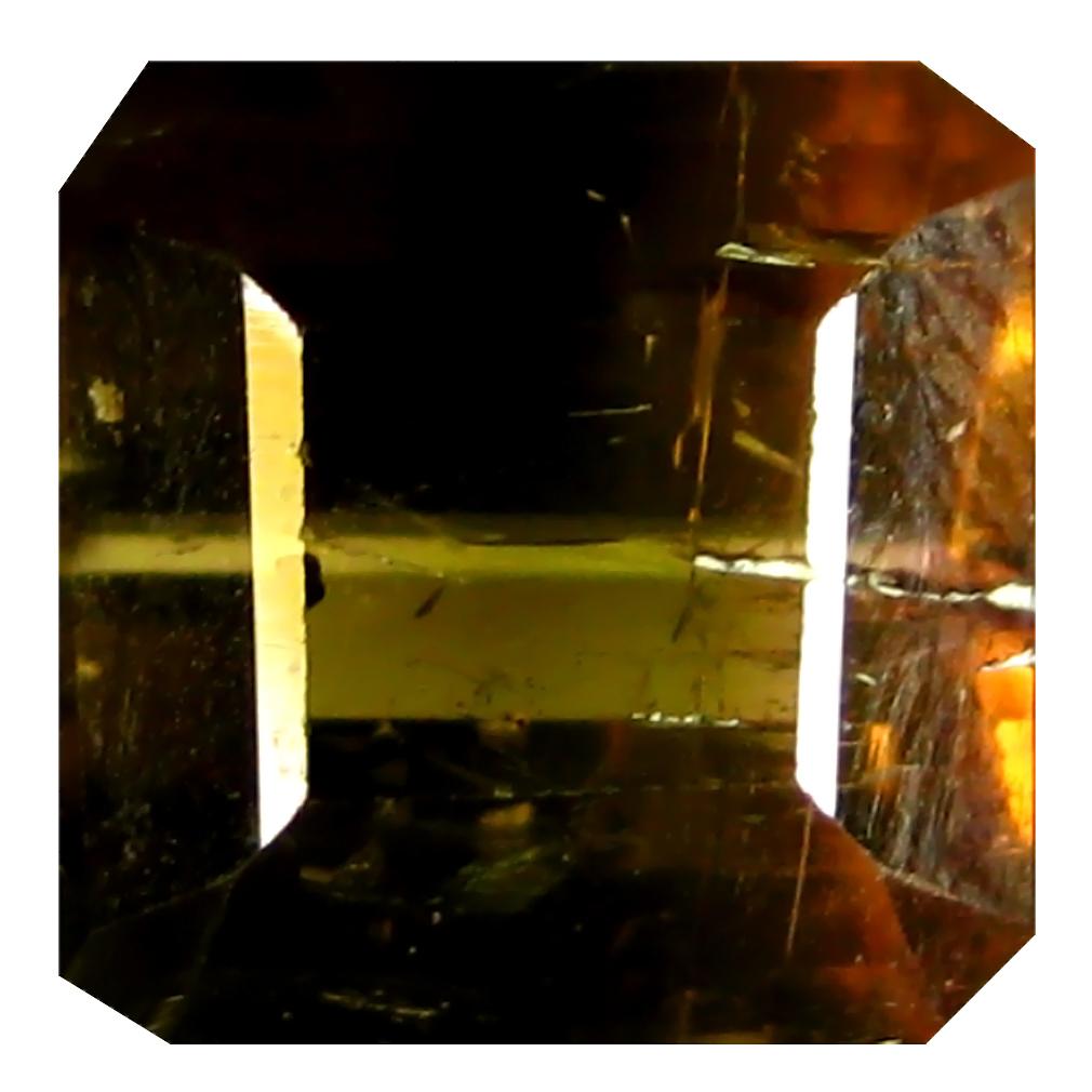 2.87 ct AAA+ Eye-opening Octagon Shape (8 x 8 mm) Honey Brown Tourmaline Natural Gemstone