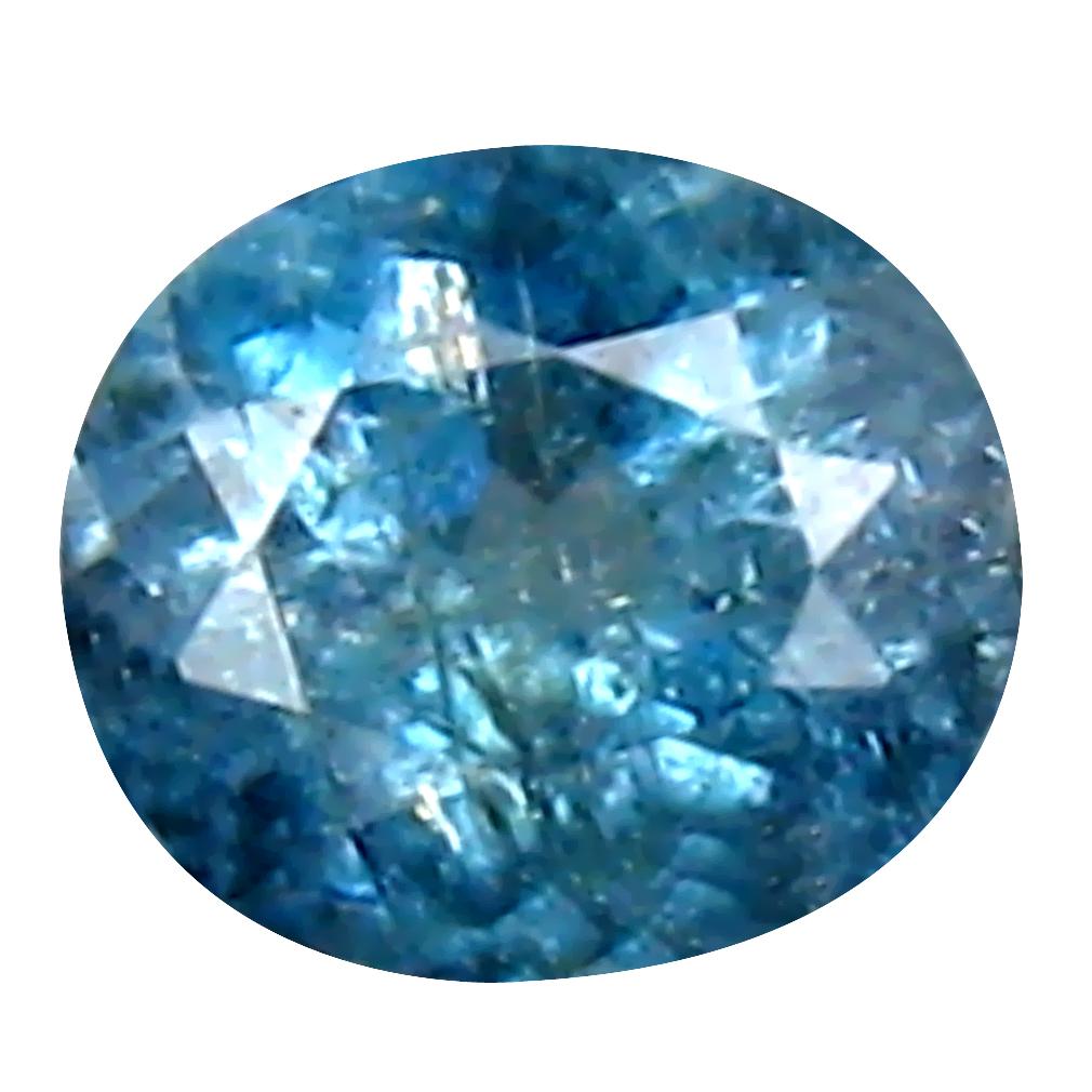 0.41 ct Amazing Oval (5 x 4 mm) Un-Heated Brazil Indicolite Blue Tourmaline Loose Gemstone