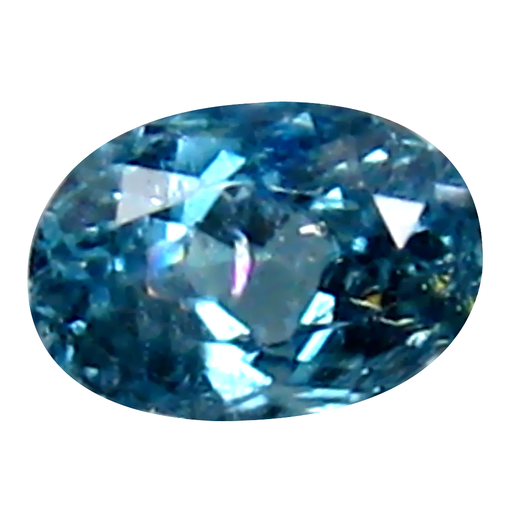 0.37 ct Remarkable Oval (5 x 3 mm) Un-Heated Brazil Indicolite Blue Tourmaline Loose Gemstone