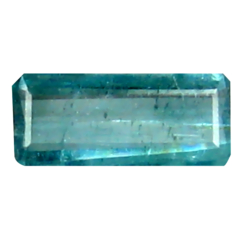 0.25 ct Pleasant Octagon (6 x 3 mm) Un-Heated Brazil Indicolite Blue Tourmaline Loose Gemstone