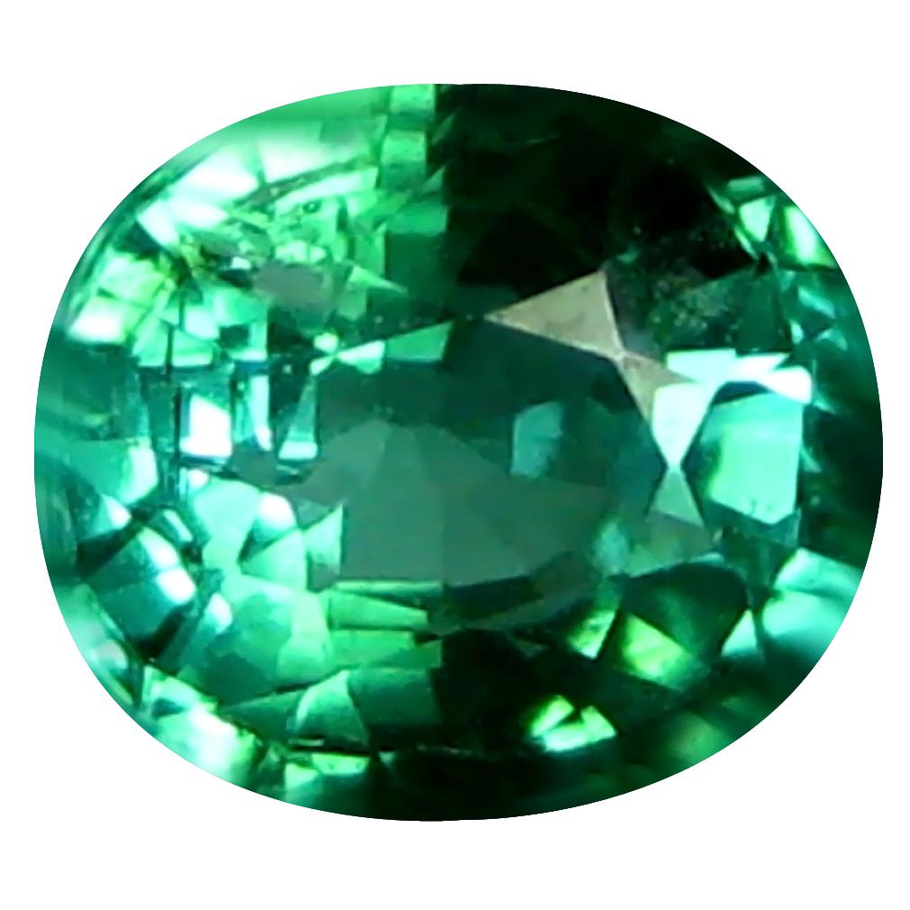 0.60 ct Very good Oval (5 x 5 mm) Brazilian Indicolite Blue Tourmaline Loose Gemstone