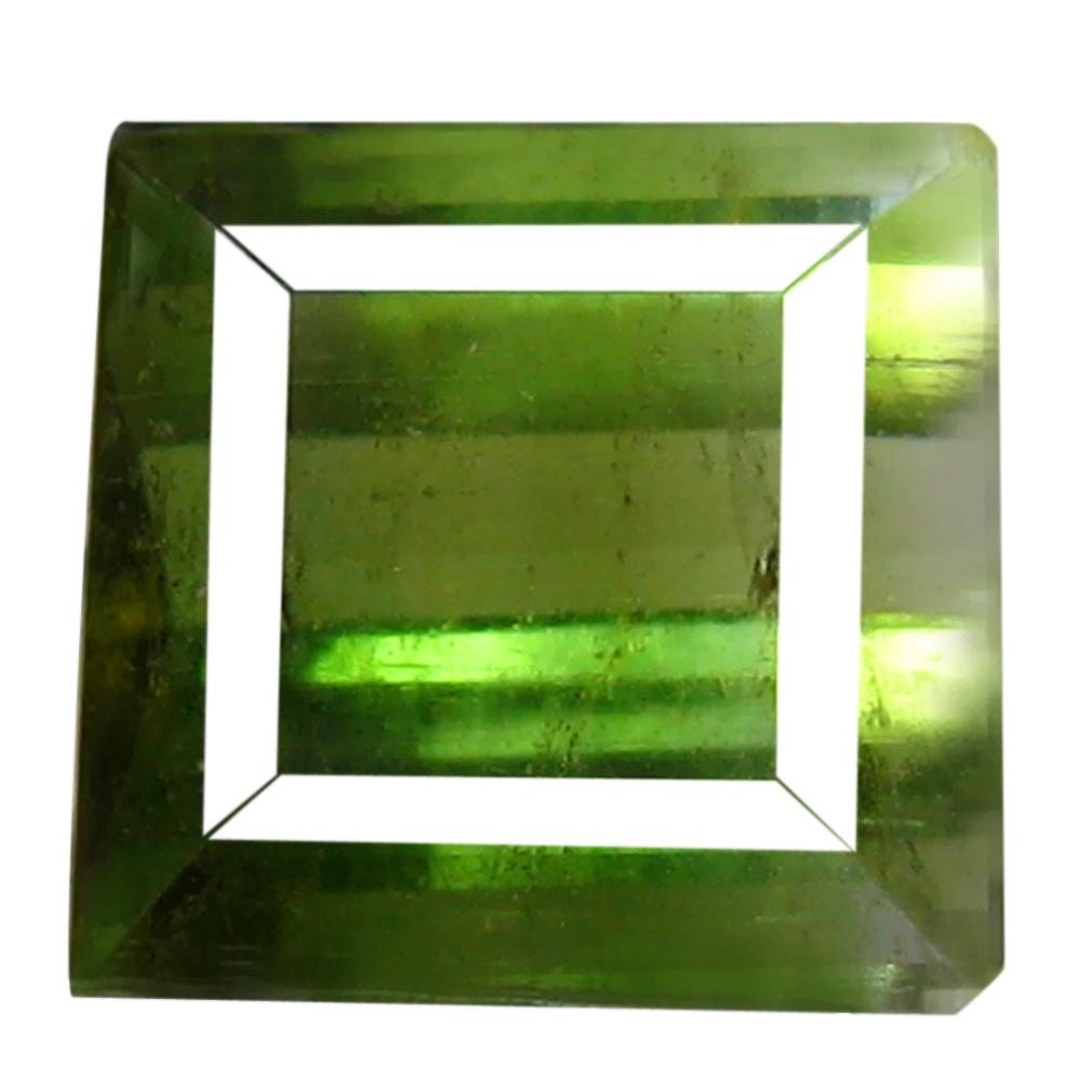 1.90 ct Spectacular Emerald Cut (7 x 7 mm) Bi Color Watermelon Tourmaline Loose Stone