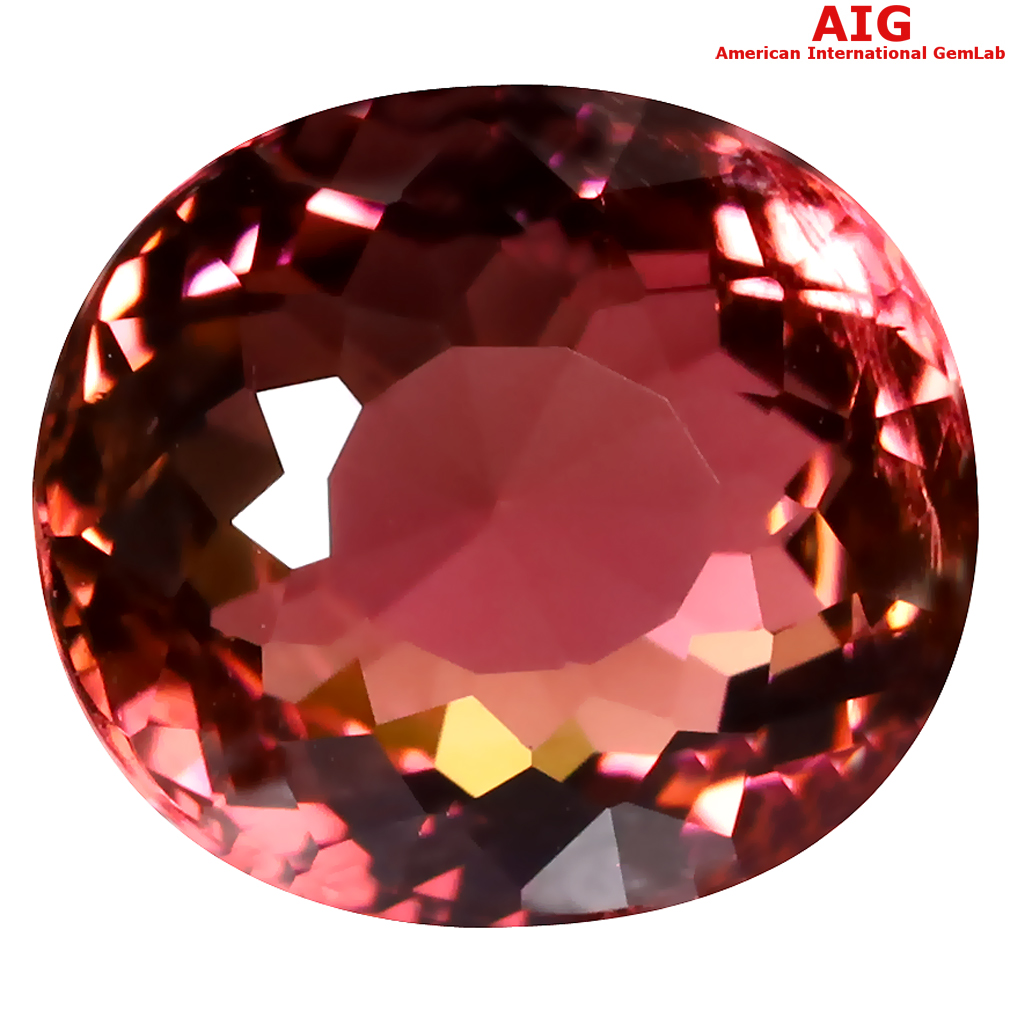 8.14 ct AIG CERTIFIED EXQUISITE OVAL CUT (13 X 11 MM) MOZAMBIQUE RUBELLITE TOURMALINE LOOSE STONE