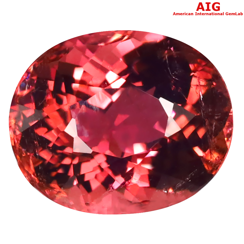 6.60 ct AIG CERTIFIED GORGEOUS OVAL CUT (13 X 11 MM) MOZAMBIQUE RUBELLITE TOURMALINE LOOSE STONE