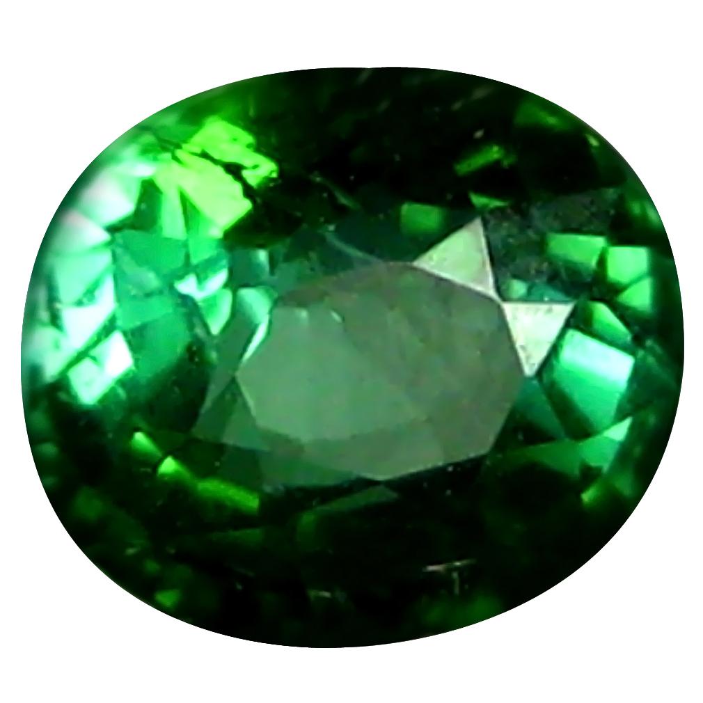0.69 ct Terrific Cushion (5 x 5 mm) Un-Heated Mozambique Green Tourmaline Loose Gemstone