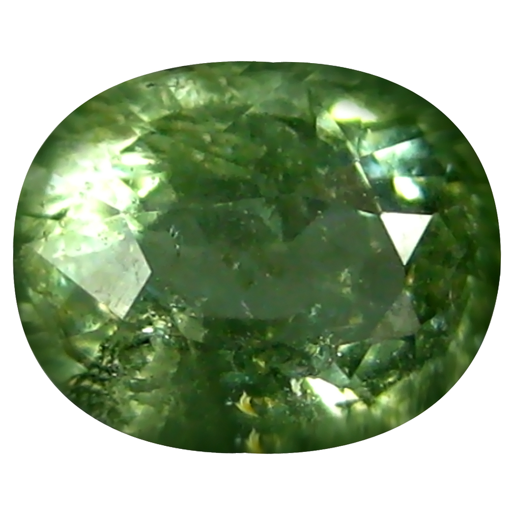 1.58 ct Superior Oval (8 x 6 mm) Un-Heated Mozambique Green Tourmaline Loose Gemstone