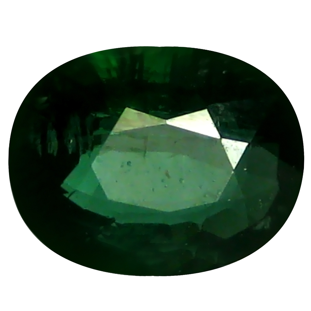 1.49 ct Resplendent Oval (8 x 6 mm) Un-Heated Mozambique Green Tourmaline Loose Gemstone