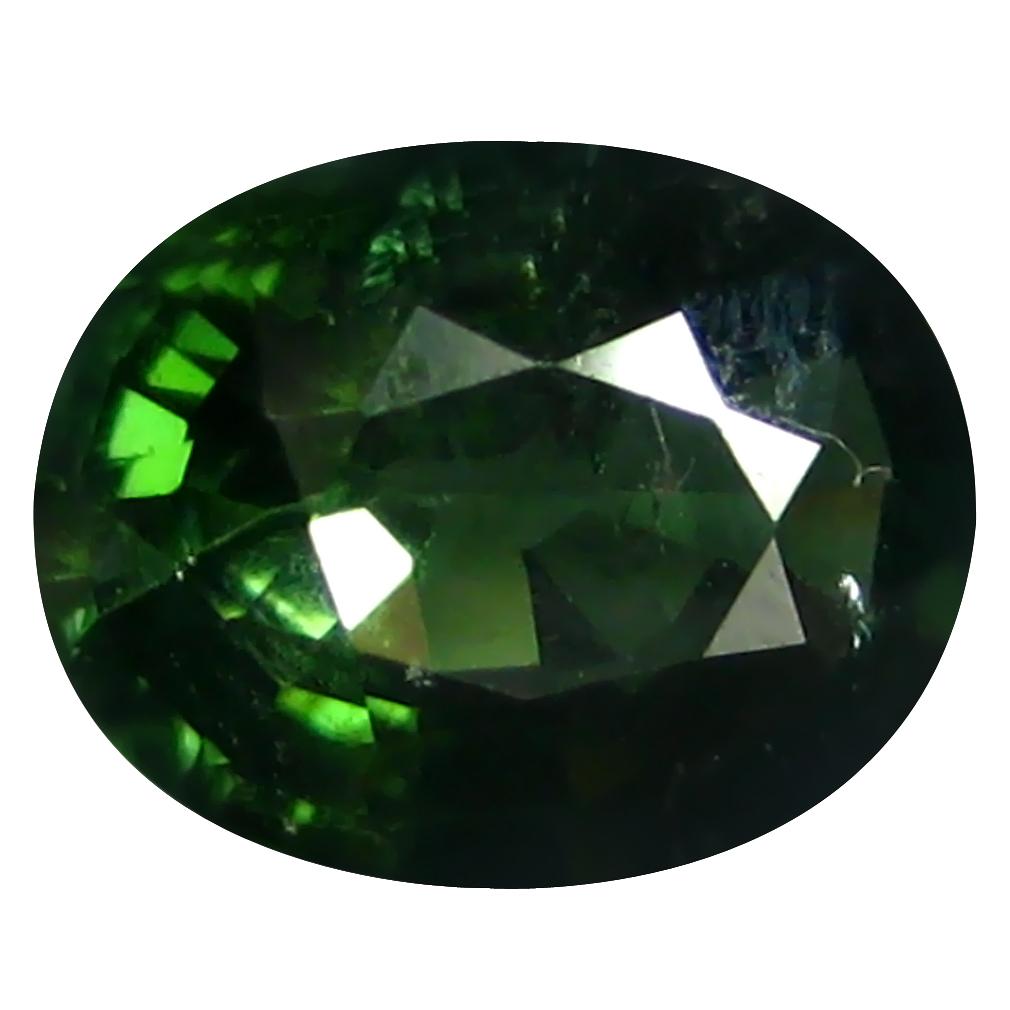 1.56 ct Extraordinary Oval (9 x 7 mm) Un-Heated Mozambique Green Tourmaline Loose Gemstone