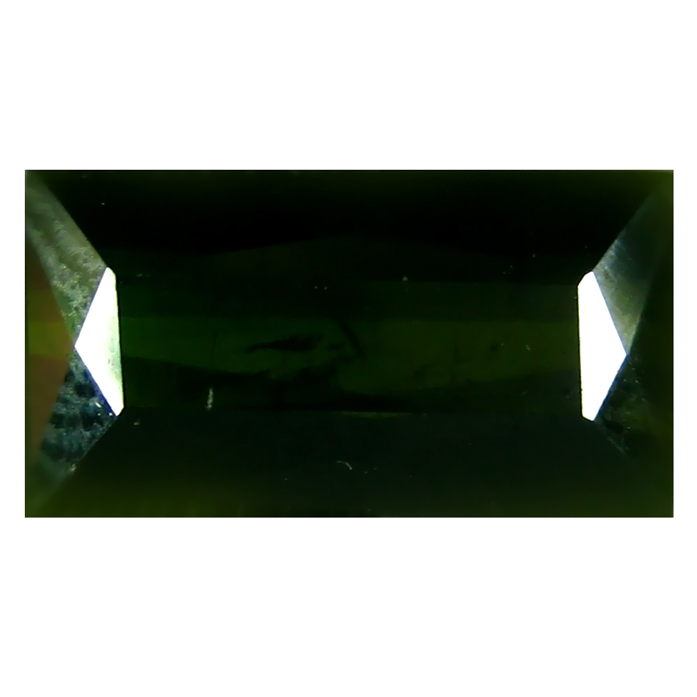 4.98 ct First-class Rectangular (12 x 7 mm) Un-Heated Mozambique Green Tourmaline Loose Gemstone