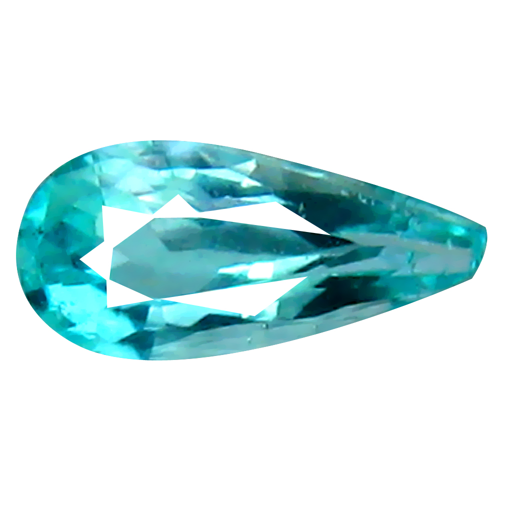 0.21 ct INCOMPARABLE PEAR CUT (6 X 3 MM) COPPER BEARING PARAIBA TOURMALINE NATURAL LOOSE GEMSTONE