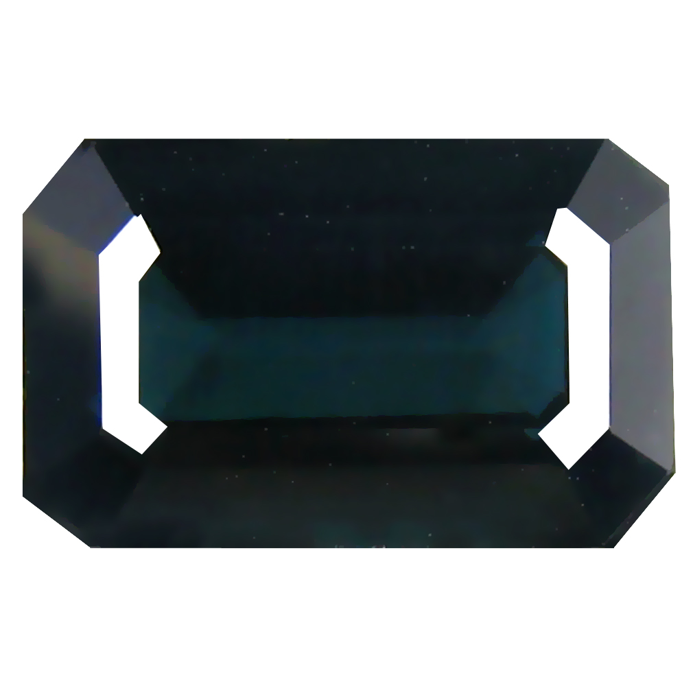 3.41 ct  Five-star Octagon Shape (11 x 7 mm) Natural Indicolite Blue Tourmaline Loose Stone