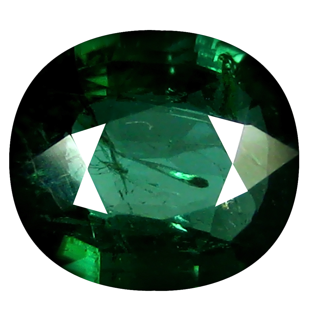 1.42 ct Fabulous Oval (8 x 7 mm) Un-Heated Mozambique Green Tourmaline Loose Gemstone