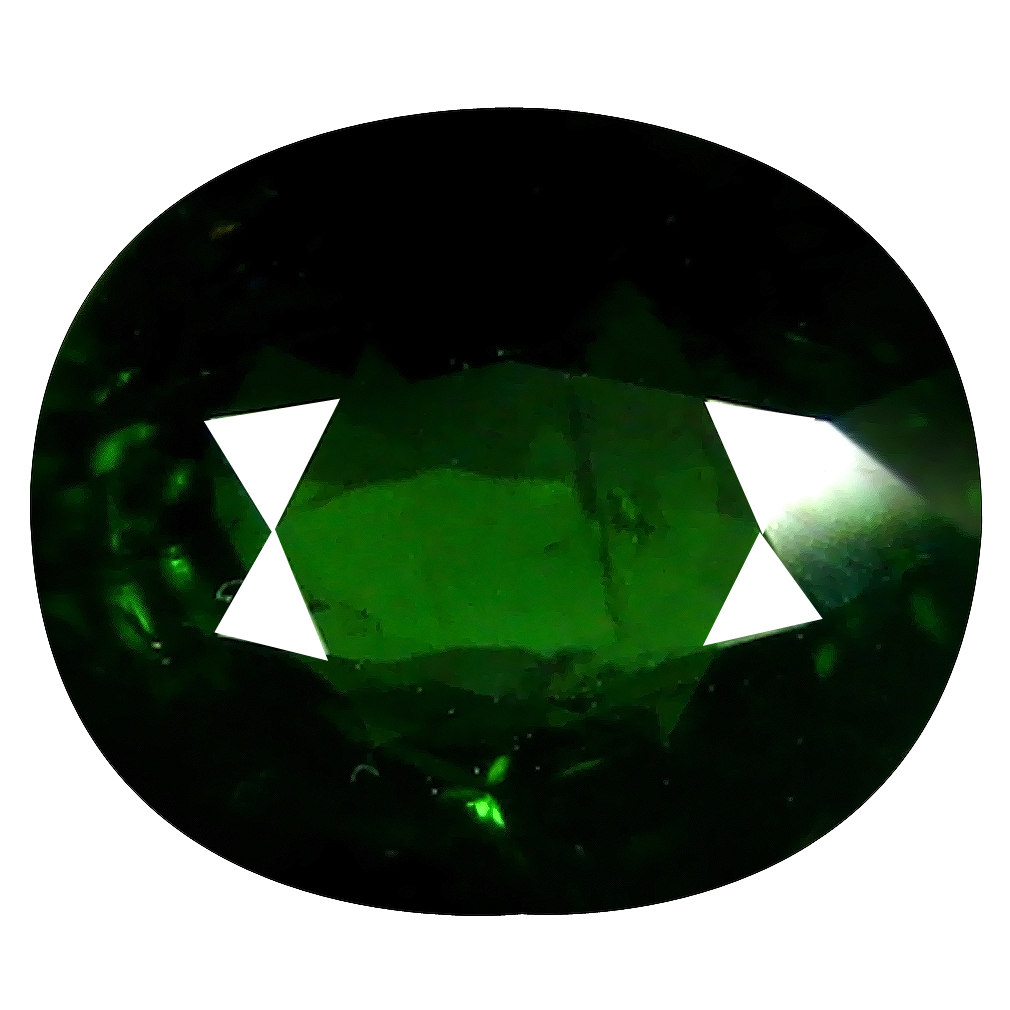 1.82 ct Grand looking Oval (8 x 7 mm) Un-Heated Mozambique Green Tourmaline Loose Gemstone