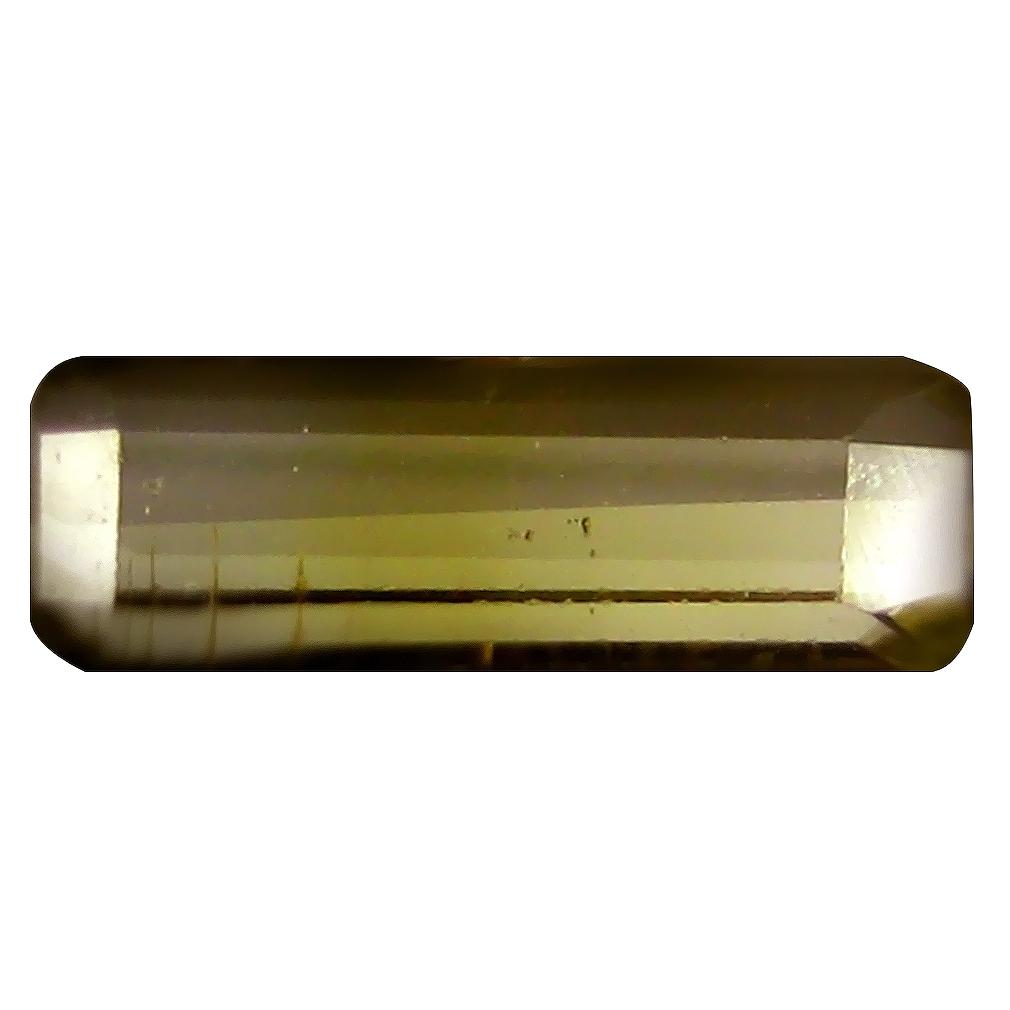 1.03 ct Five-star Octagon (10 x 3 mm) Un-Heated Mozambique Green Tourmaline Loose Gemstone