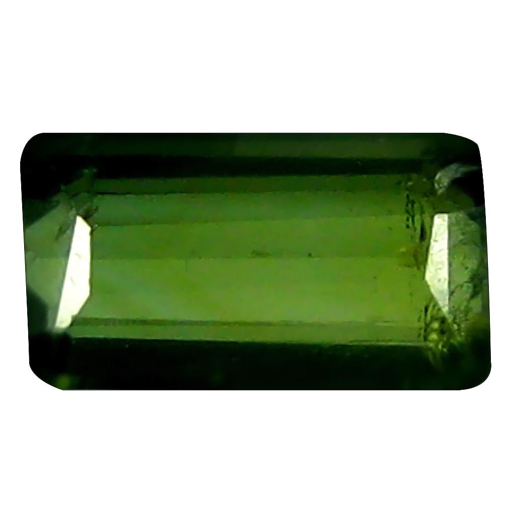 0.77 ct Good-looking Octagon (7 x 4 mm) Un-Heated Mozambique Green Tourmaline Loose Gemstone