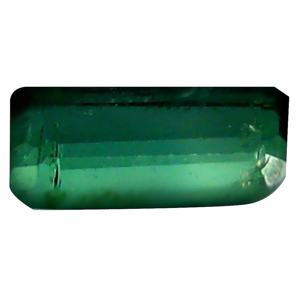 0.61 ct Terrific Octagon (7 x 3 mm) Un-Heated Mozambique Green Tourmaline Loose Gemstone