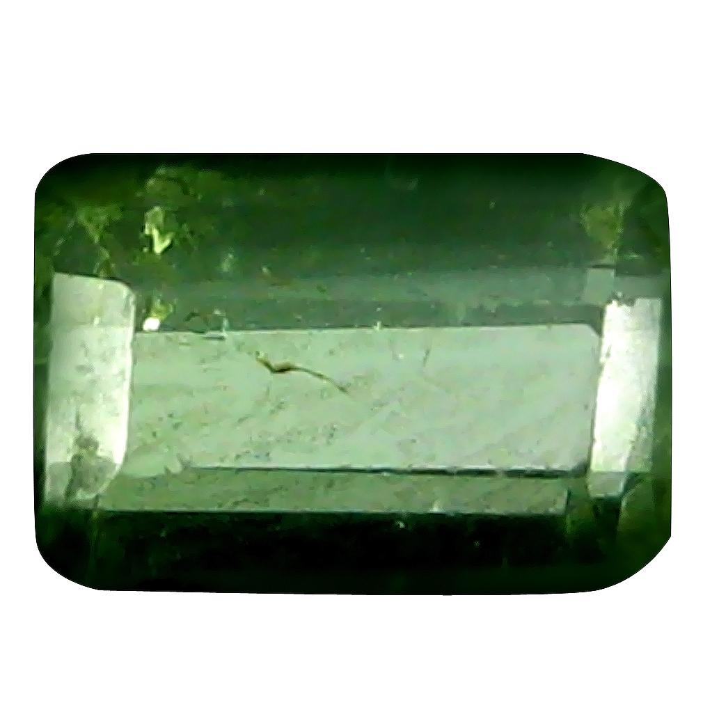 0.47 ct Supreme Octagon (6 x 3 mm) Un-Heated Mozambique Green Tourmaline Loose Gemstone