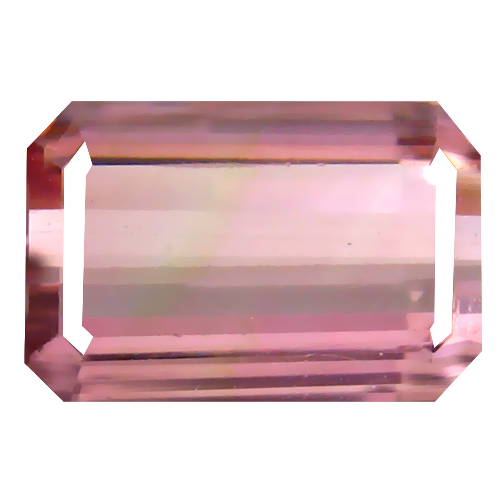 2.51 ct Significant Octagon Cut (10 x 7 mm) Un-Heated Pink Tourmaline Natural Gemstone
