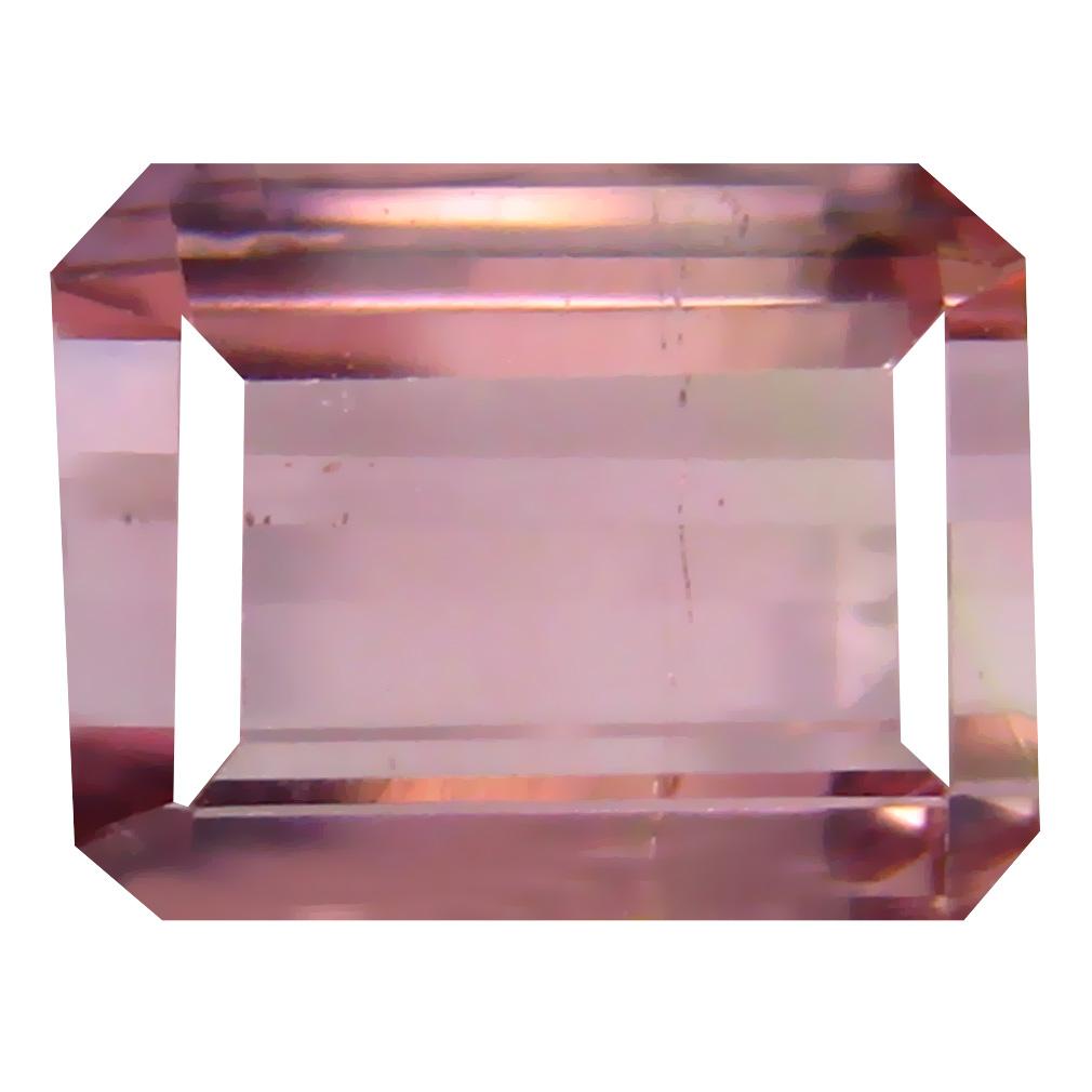 2.38 ct Phenomenal Octagon Cut (9 x 7 mm) Un-Heated Pink Tourmaline Natural Gemstone